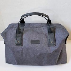 John Varvatos Gray Duffel Gym Travel Bag